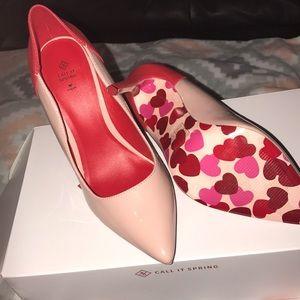 Brand New Red and Cream Valentine Heel